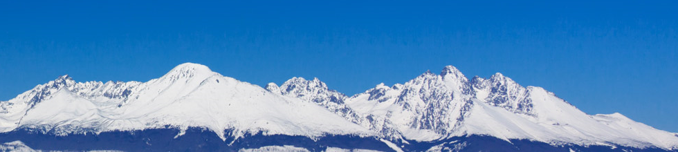 Snow-capped mountain panorama